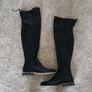 MK Black Leather Boots